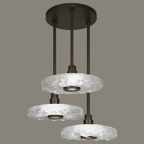 Fine Art Lamps Fine Art Lamps Crystal Bakehouse Bronze Multi-Light Pendant with Drum Shade 823640-14ST