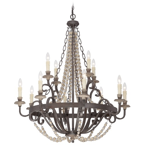 Savoy House Savoy House Fossil Stone Chandelier 1-7405-12-39