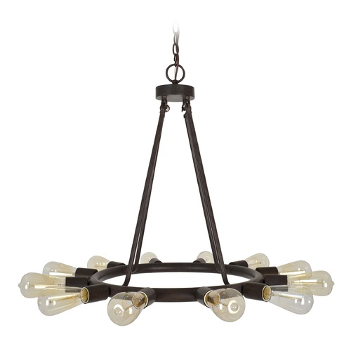 Crystorama Lighting Crystorama Lighting Dakota Charcoal Bronze Chandelier 9045-CZ