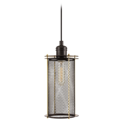 Progress Lighting Progress Lighting Industrial Antique Bronze Mini-Pendant Light with Cylindrical Shade P5327-20