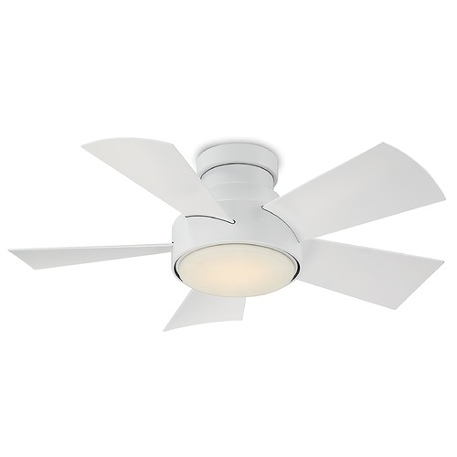 Modern Forms by WAC Lighting Modern Forms Matte White 38-Inch LED Smart Ceiling Fan 2041LM 3000K FH-W1802-38L-MW