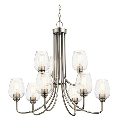 Kichler Lighting Kichler Lighting Valserrano Brushed Nickel Chandelier 44378NICS