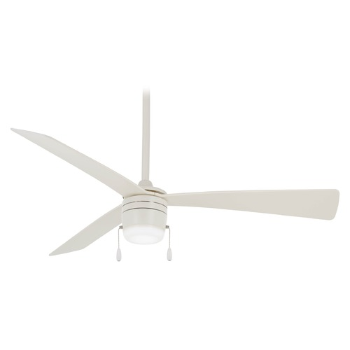 Minka Aire Minka Aire Vital Flat White LED Ceiling Fan with Light F676L-WHF