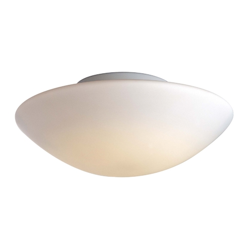 George Kovacs Lighting Modern Flushmount Light with White Glass in White Finish P851-044