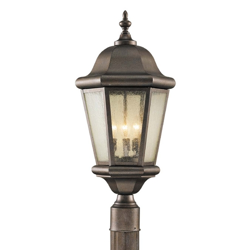 Feiss Lighting Post Light with Clear Glass in Corinthian Bronze Finish OL5907CB