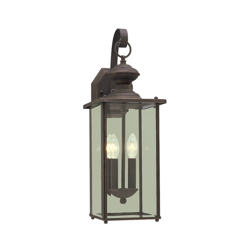 Sea Gull Lighting Outdoor Wall Light with Clear Glass in Antique Bronze Finish 8468-71