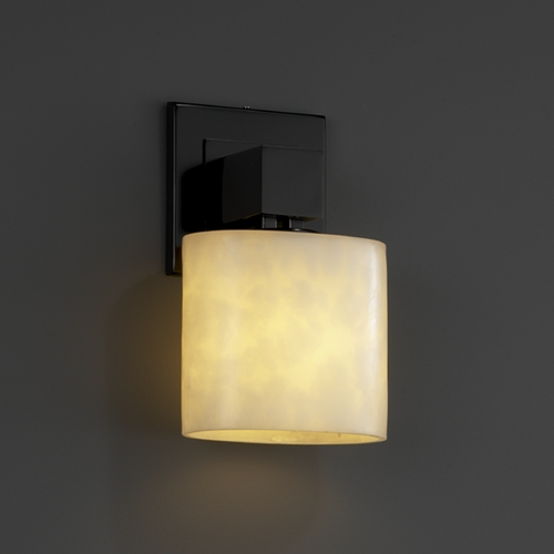 Justice Design Group Justice Design Group Clouds Collection Sconce CLD-8707-30-MBLK