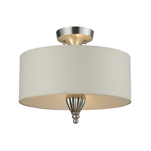 Elk Lighting Semi-Flushmount Light in Silver Leaf Finish - Includes Recessed Adapter Kit 46031/3-LA