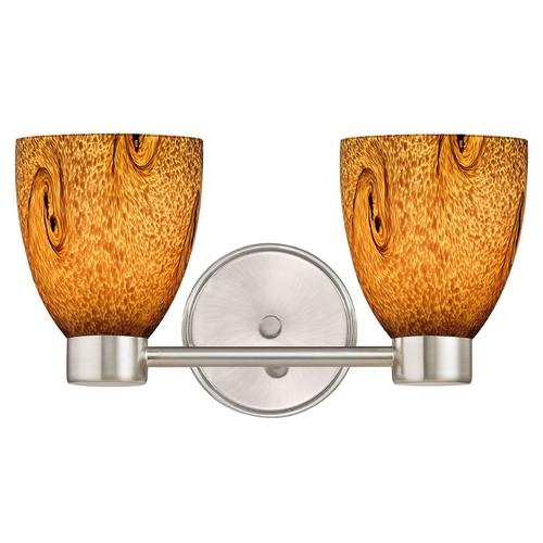 Design Classics Lighting Aon Fuse Art Glass Satin Nickel Bathroom Light with Bell Glass 1802-09 GL1001MB