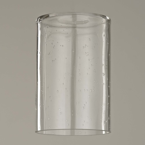 Seeded Glass Cylinder Shade With 1 5 8 Fitter 6 Inch Tall