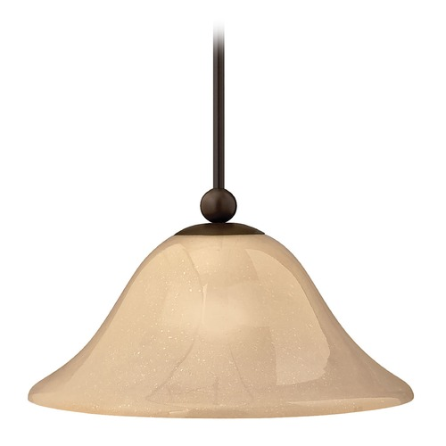 Hinkley Lighting Pendant Light with Amber Glass in Olde Bronze Finish 4661OB