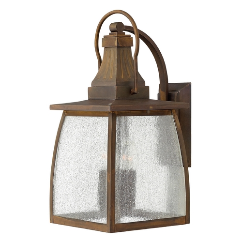 Hinkley Lighting LED Outdoor Wall Light with Clear Glass in Sienna Finish 1205SN-LED