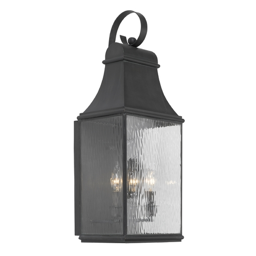 Elk Lighting Outdoor Wall Light with Clear Glass in Charcoal Finish 706-C
