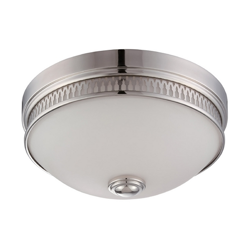 Nuvo Lighting LED Flushmount Light with White Glass in Polished Nickel Finish 62/321
