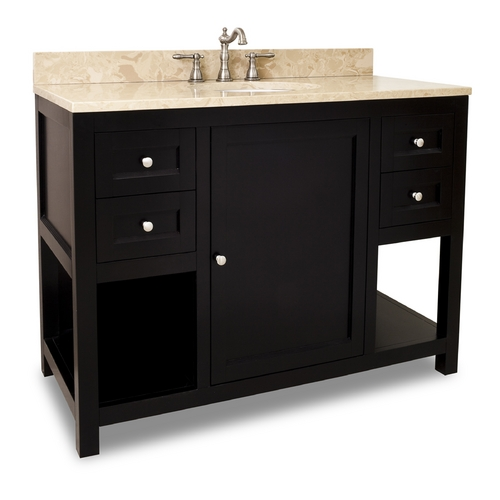Hardware Resources Bathroom Vanity in Espresso Finish - Pre Assembled Top and Bowl VAN092-48-T