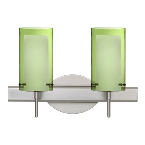 Besa Lighting Besa Lighting Pahu Satin Nickel Bathroom Light 2SW-L44007-SN