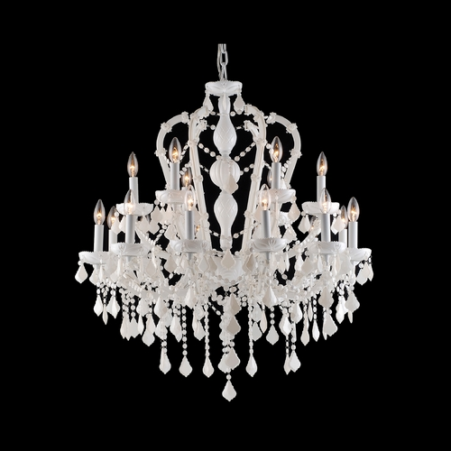 Avenue Lighting Avenue Lighting Casablanca Way White Crystal Chandelier HF1040-WHT