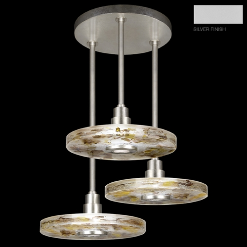 Fine Art Lamps Fine Art Lamps Crystal Bakehouse Silver Multi-Light Pendant with Drum Shade 823640-21ST