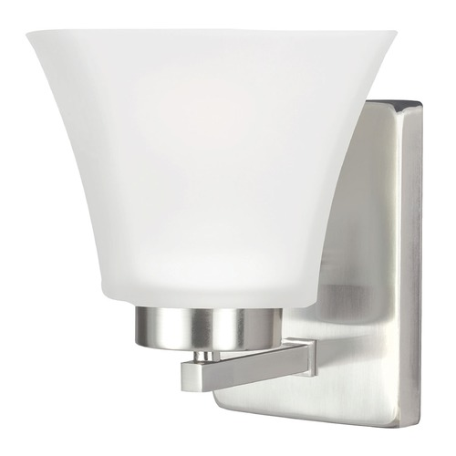 Sea Gull Lighting Sea Gull Lighting Bayfield Brushed Nickel Sconce 4111601-962