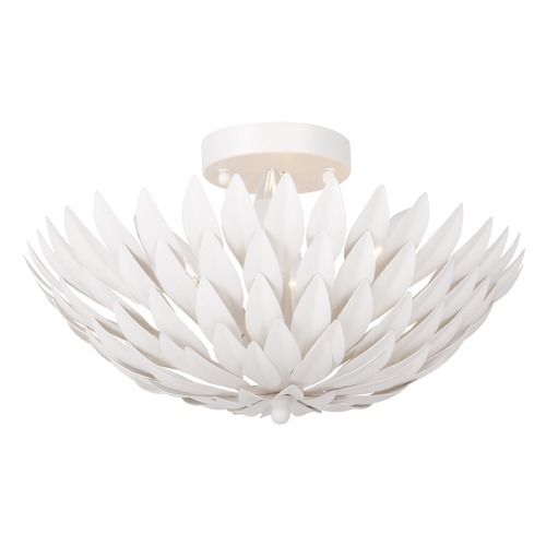 Crystorama Lighting Crystorama Lighting Broche Matte White Semi-Flushmount Light 505-MT