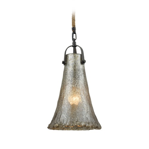 Elk Lighting Elk Lighting Hand Formed Glass Oil Rubbed Bronze Mini-Pendant Light with Bell Shade 10651/1