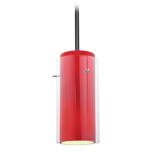 Access Lighting Access Lighting Glass`n Glass Cylinder Oil Rubbed Bronze Mini-Pendant Light with Cylindrical Shade 28033-3R-ORB/CLRD