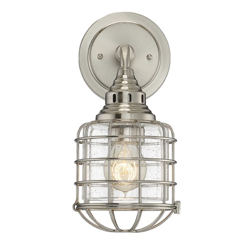 Savoy House Savoy House Lighting Connell Satin Nickel Sconce 9-575-1-SN