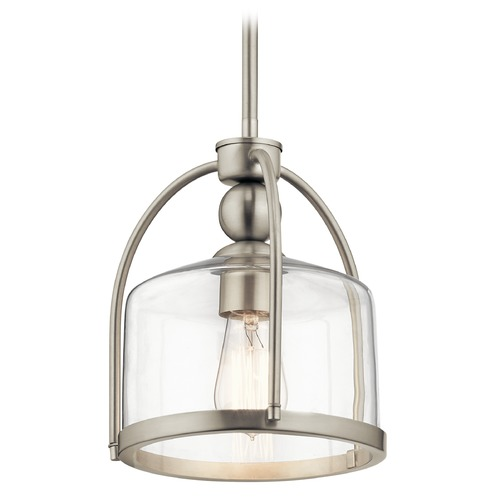 Kichler Lighting Modern Pendant Light Brushed Nickel by Kichler Lighting 42798NI