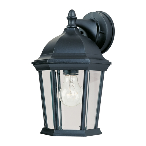 Maxim Lighting Outdoor Wall Light with Clear Glass in Black Finish 1024BK