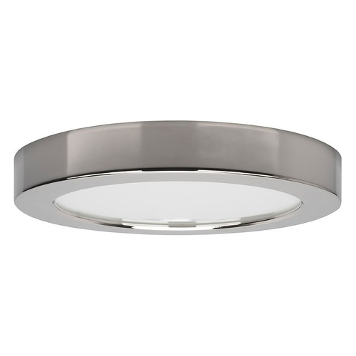Satco Lighting Satco 7-Inch Round Polished Chrome LED Surface Mount Light 13.5W 3000K 820LM S21527