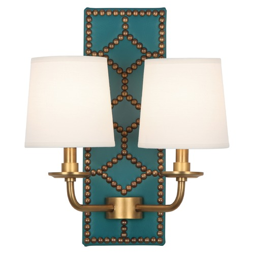 Robert Abbey Lighting Robert Abbey Lighting Williamsburg Lightfoot Wall Sconce with Fondine Fabric Shades 1033