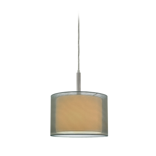 Sonneman Lighting Modern Mini-Pendant Light with Silver Shade 6008.13F