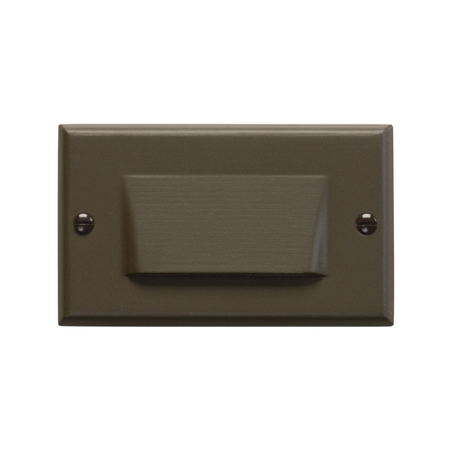 Kichler Lighting Kichler LED Recessed Step Light in Architectural Bronze Finish 12602AZ