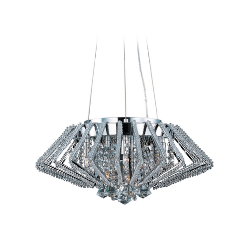 ET2 Lighting Modern Pendant Light in Polished Chrome Finish E20405-20PC