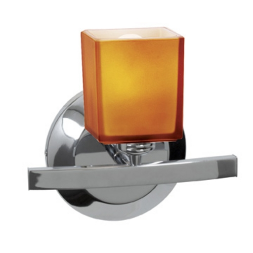 Access Lighting Modern Sconce with Amber Glass in Chrome Finish 63811-18-CH/AMB