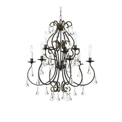 Crystorama Lighting Crystal Chandelier in English Bronze Finish 5019-EB-CL-MWP
