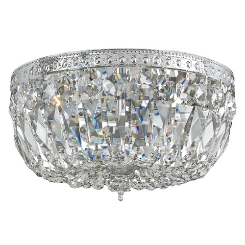 Crystorama Lighting Crystal Flushmount Light in Polished Chrome Finish 714-CH-CL-SAQ
