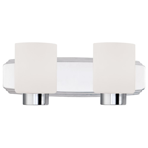Dolan Designs Lighting Contemporary Bathroom Light in Chrome Finish with Cylinder Shades 3502-26
