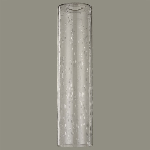 Design Classics Lighting 16-Inch Tall Clear Seeded Cylinder Glass Shade with 1-5/8 Fitter GL1641C