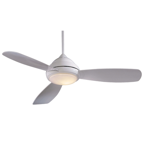 Minka Aire 52-Inch Ceiling Fan with Three Blades and Light Kit F517-WH
