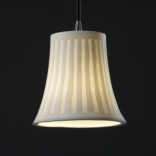 Justice Design Group Justice Design Group Limoges Collection Mini-Pendant Light POR-8815-20-WFAL-ABRS