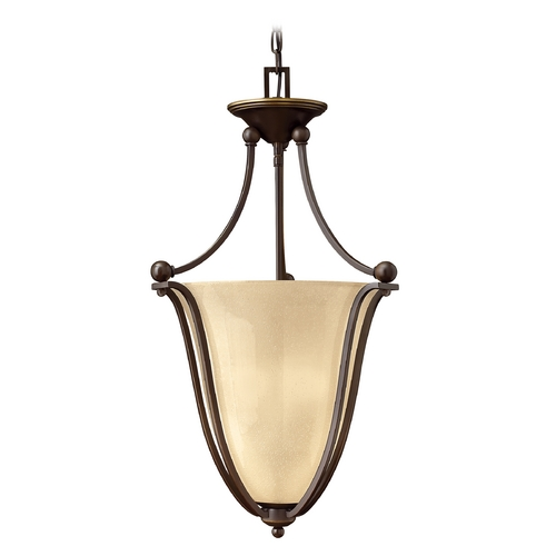 Hinkley Lighting Three-Light Pendant Light 4663OB