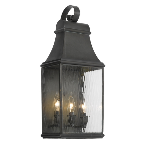 Elk Lighting Outdoor Wall Light with Clear Glass in Charcoal Finish 704-C
