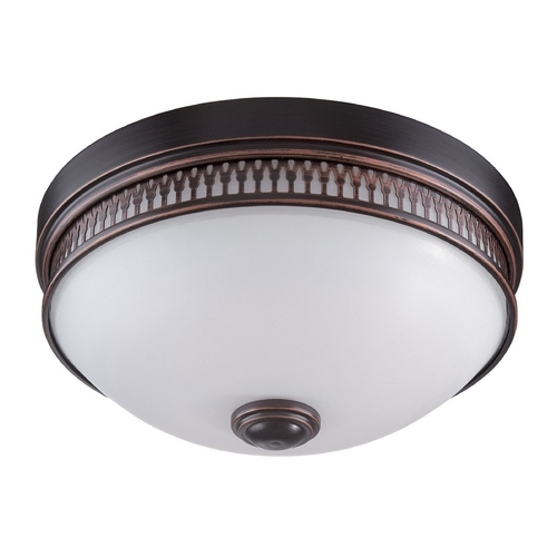 Nuvo Lighting LED Flushmount Light with White Glass in Georgetown Bronze Finish 62/322