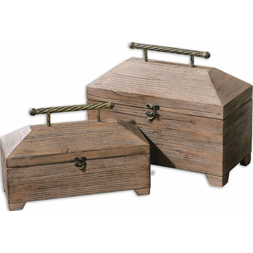 Uttermost Lighting Uttermost Tadao Natural Wood Boxes, Set of 2 19653