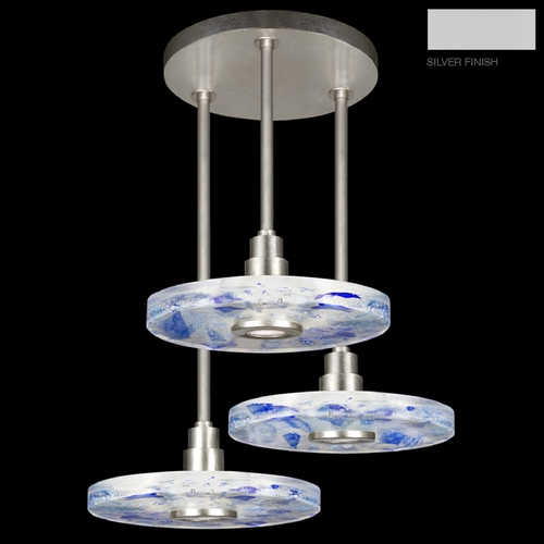 Fine Art Lamps Fine Art Lamps Crystal Bakehouse Silver Multi-Light Pendant with Drum Shade 823640-22ST