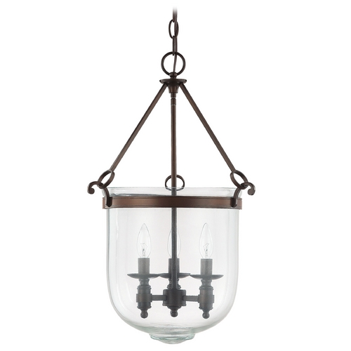 Capital Lighting Capital Lighting Burnished Bronze Pendant Light with Bowl / Dome Shade 9401BB