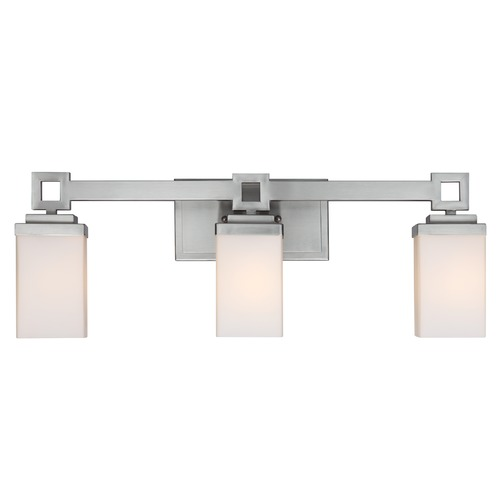 Golden Lighting Golden Lighting Nelio Pewter Bathroom Light 4444-BA3 PW