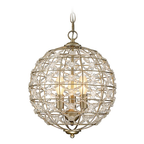 Savoy House Savoy House Lighting Mini Chandelier Aurora Pendant Light with Globe Shade 1-9068-3-100