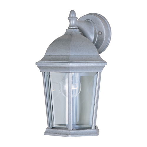 Maxim Lighting Outdoor Wall Light with Clear Glass in Pewter Finish 1024PE